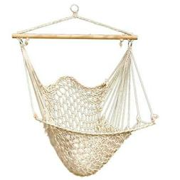 hammock cotton swing camping hanging rope chair