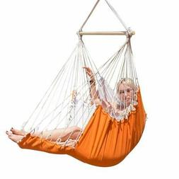 Hammock Hanging  Orange Swing Chair Outdoor Swing Seat With