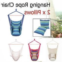 Hammock Hanging Rope Chair Porch Swing Seat Patio Camping /w