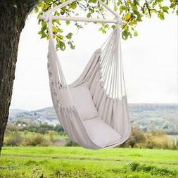 Hammock Hanging Rope Chair Swing Seat Patio Seating Wooden /