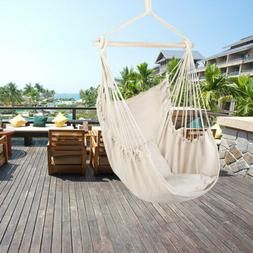 Hammock Swing Chair Hanging Rope Chair Portable Porch Seat f