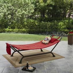 Hammock with Metal Stand Set Camping Garden Patio Relaxing B