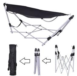 Hammock With Stand Foldable Portable Camping Bed Lightweight