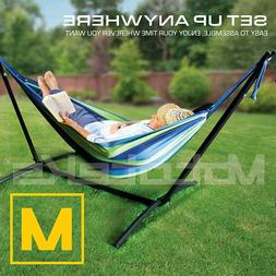 Hammock with Stand Steel Portable Double Swing Bed with Carr