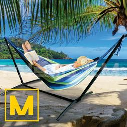 Hammock with Steel Stand Portable Double Swing Bed with Carr