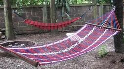 Handmade Hammocks and Chair Swings from polyester fabric red