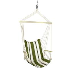 Blue Sky Outdoor Hanging Chair with Armrests and Free Hammoc