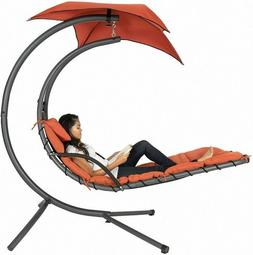 Hanging Chaise Lounger Chair Arc Stand Air Porch Swing Hammo