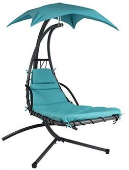 Hanging Chaise Lounger Chair for Garden Arc Stand Air Porch