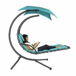 Hanging chaise lounger chair hammock chair outdoor stand swi