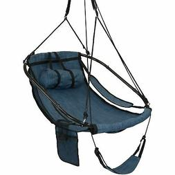 Hanging Hammock Camping Chair Swing - Drink Holder and Footr
