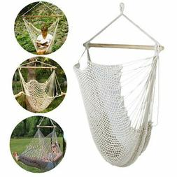 Hanging Hammock Leisure Bed Cotton Rope Camping Hunting Bed