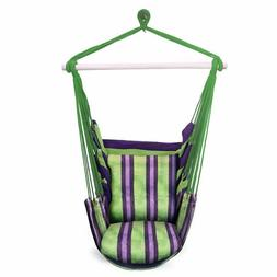 Hanging Rope Hammock Chair Swing Seat for Any Indoor or Outd