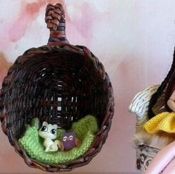 Hanging swing chair for doll. Hammock sitting nest 1:12 scal