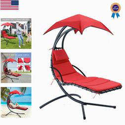 Heavy-Duty Hanging Chaise Lounger Chairs Arc Stand Porch Swi