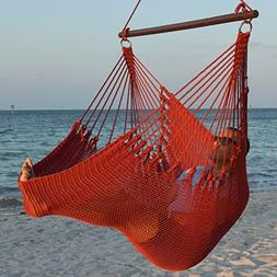 Jumbo Caribbean Hammock Chair with Footrest - 55 inch - Soft