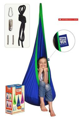 Amazeyou Kids Swing Hammock Pod Chair - Child'S Rope Hanging