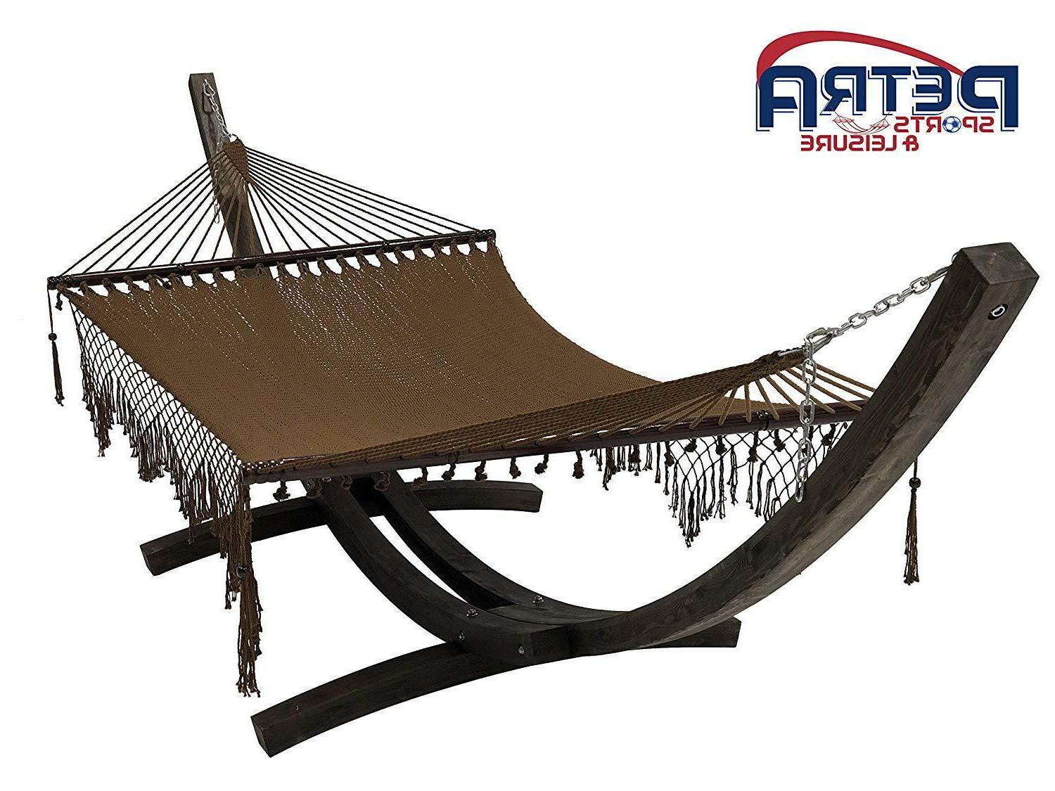 14 ft wooden arc hammock stand w
