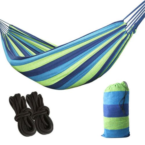 Double Outdoor Canvas Fabric Camping Hanging Bed 450Lbs