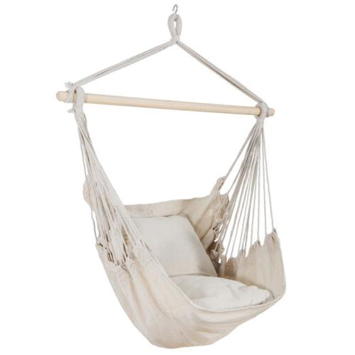 Beige Hanging Chair Swing Camping
