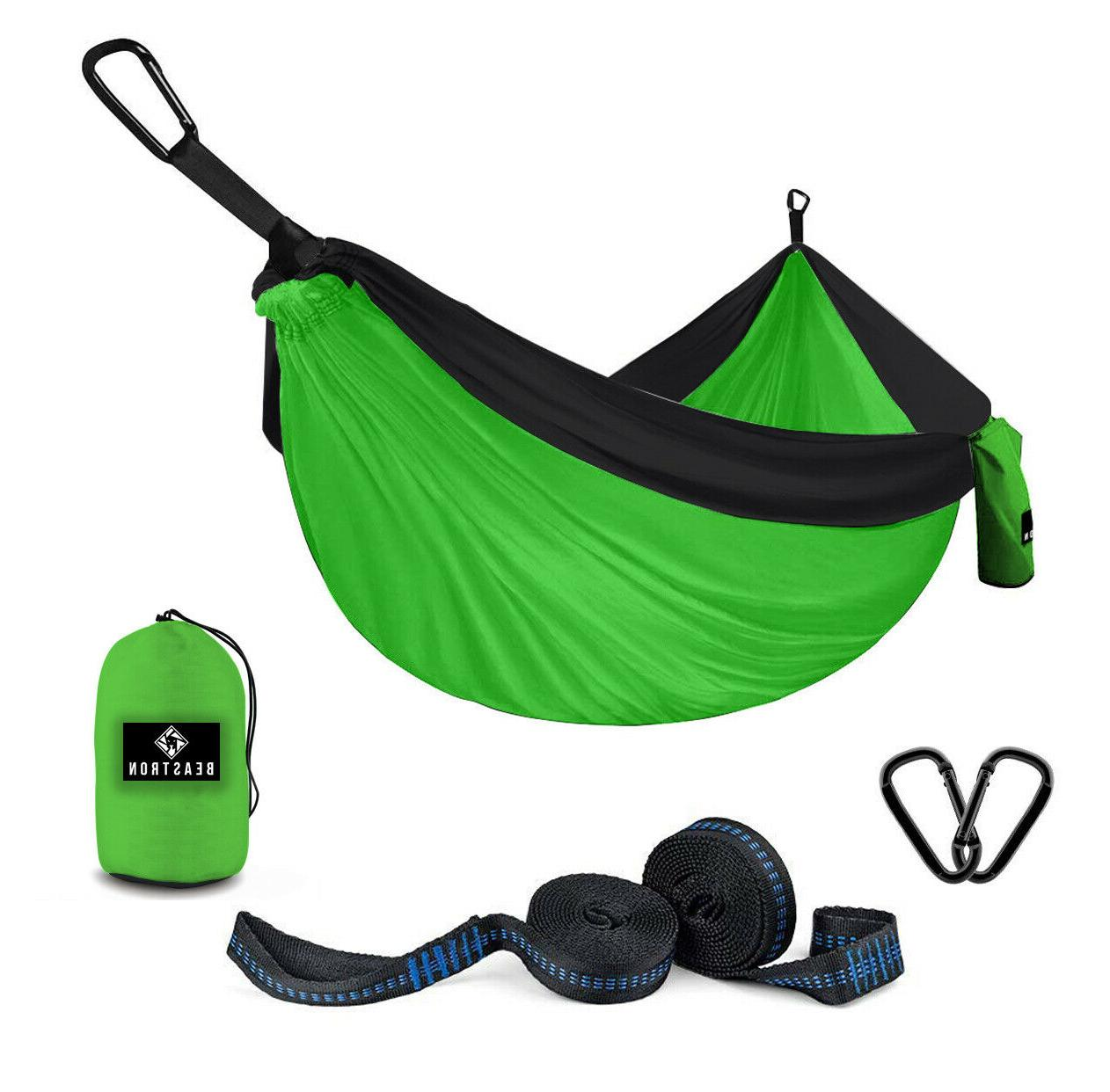 Beastron Camping Hammock Large Size with Tree Straps, Max 60