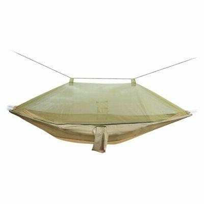 camping single hammock with mosquito net