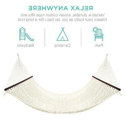 Cotton Rope Hammock With Accessories Relaxing