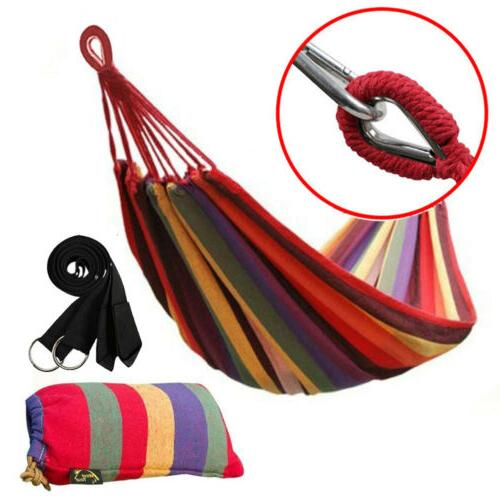 cotton rope hanging hammock swing camping canvas