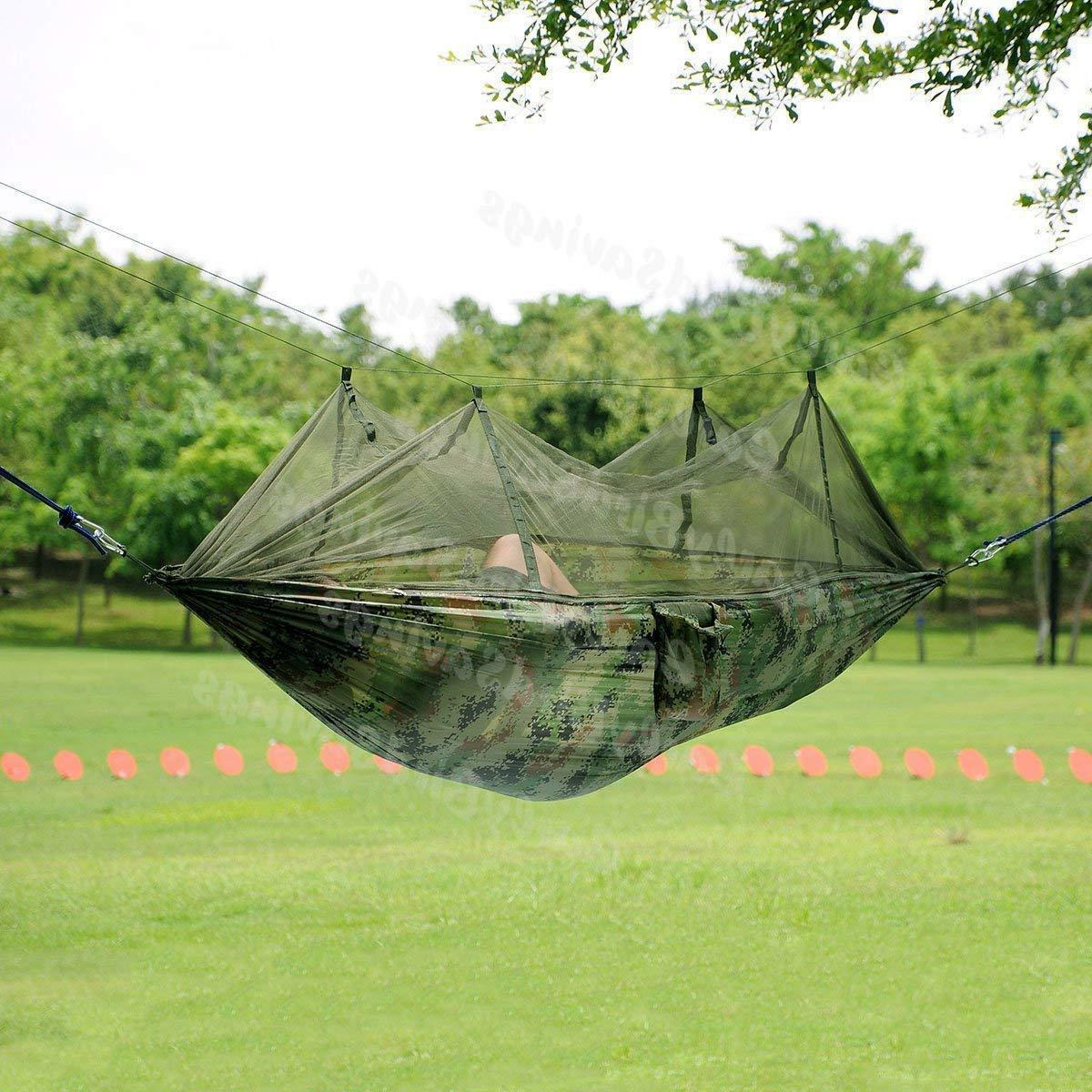 Camping Hammock Net 2 Hanging Bed Swing Chair Outdoor