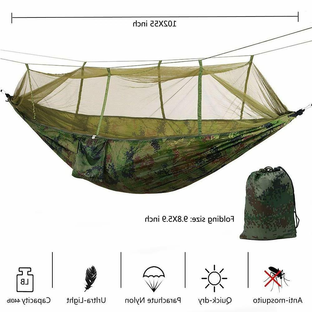 Double Hammock with Mosquito Hanging