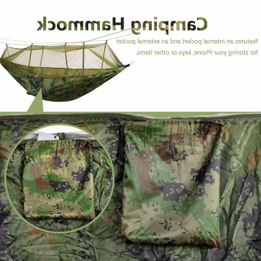 Double Hammock with Mosquito Hanging Bed Portable