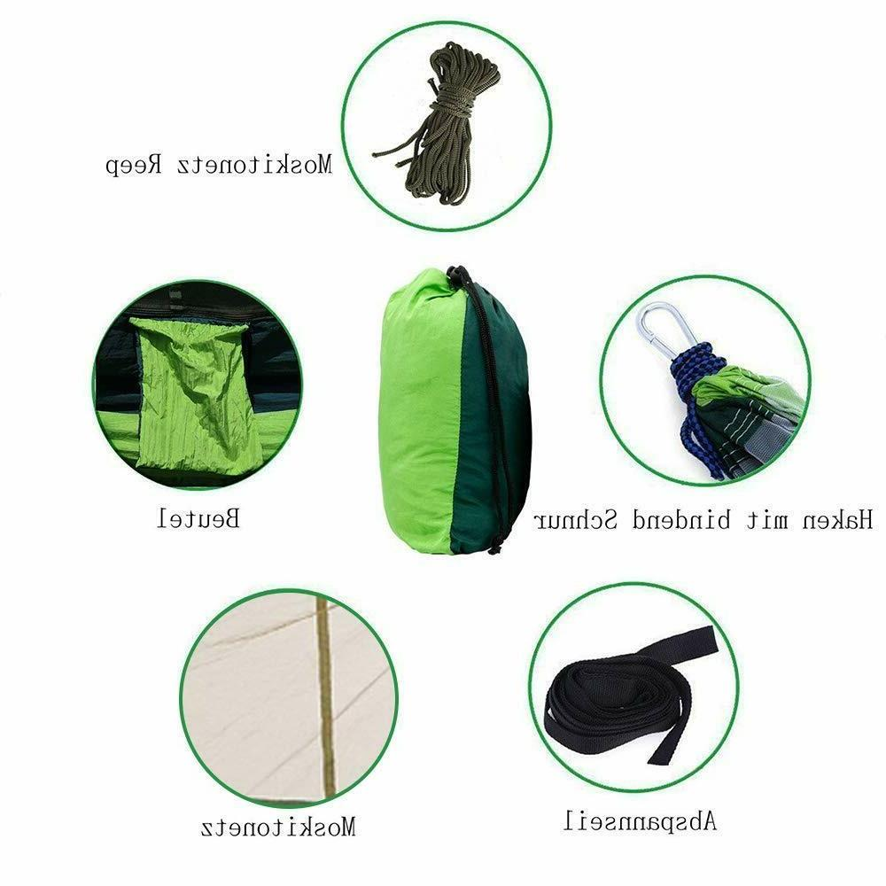 Camping Hammock with Mosquito Tent Hanging Bed Swing Chair Outdoor