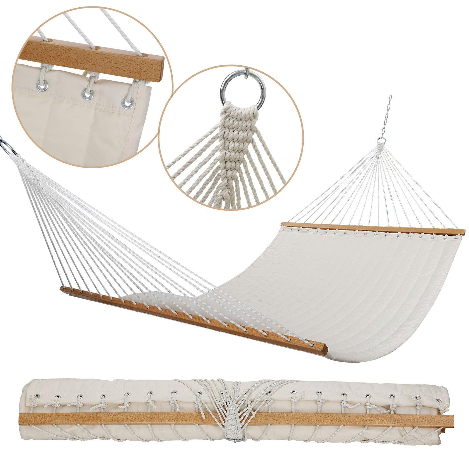 Double Hammock Quilted Sleeping Swing W/ White
