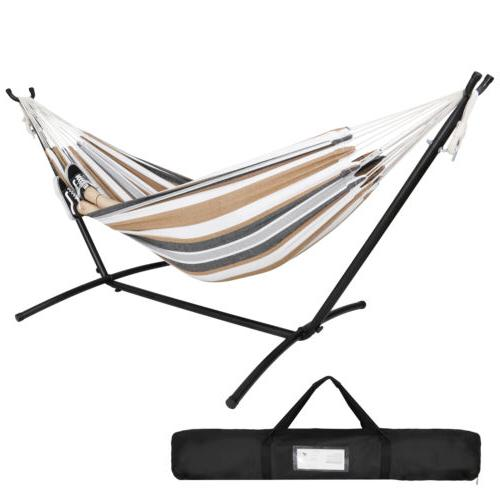 Portable Hammock with Stand for 2 person with Carrying case