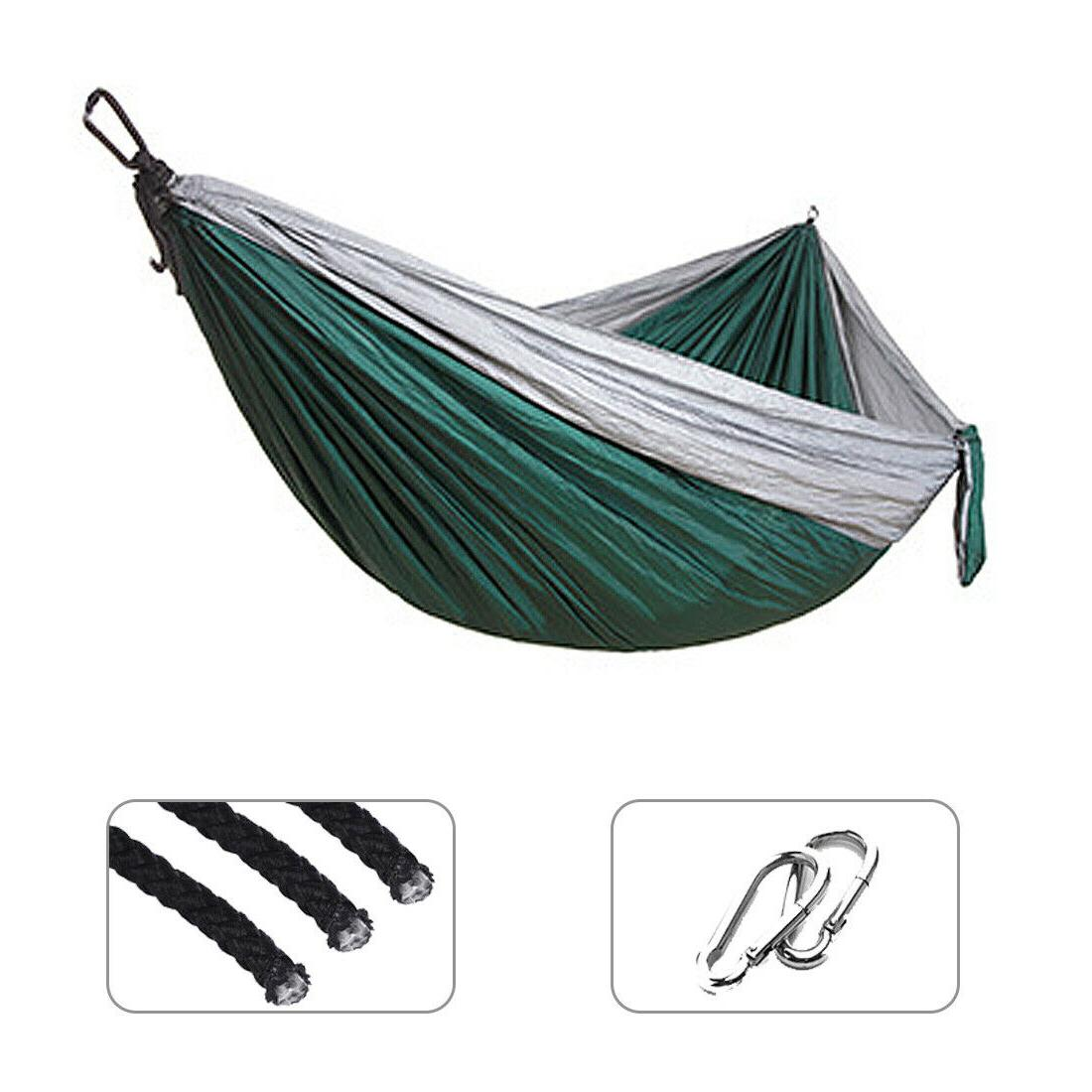 double outdoor hammock swing bed portable parachute
