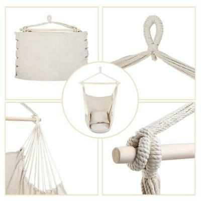Hammock Pillow Swing Hanging Rope Outdoor Seat Chair