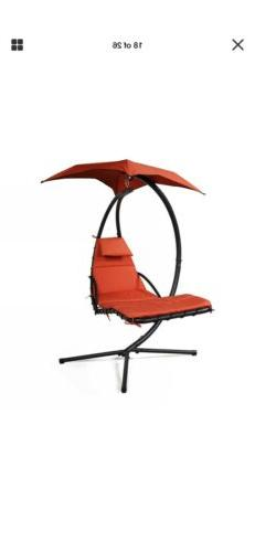 Hammock Chair Hanging Chaise Lounger Outdoor Patio Swing Sta