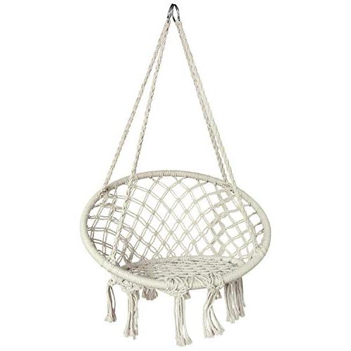 Hammock Chair for 2-16 Years Old Knitted Chair for Indoor,Bedroom,Yard,Garden- Pound Capacity