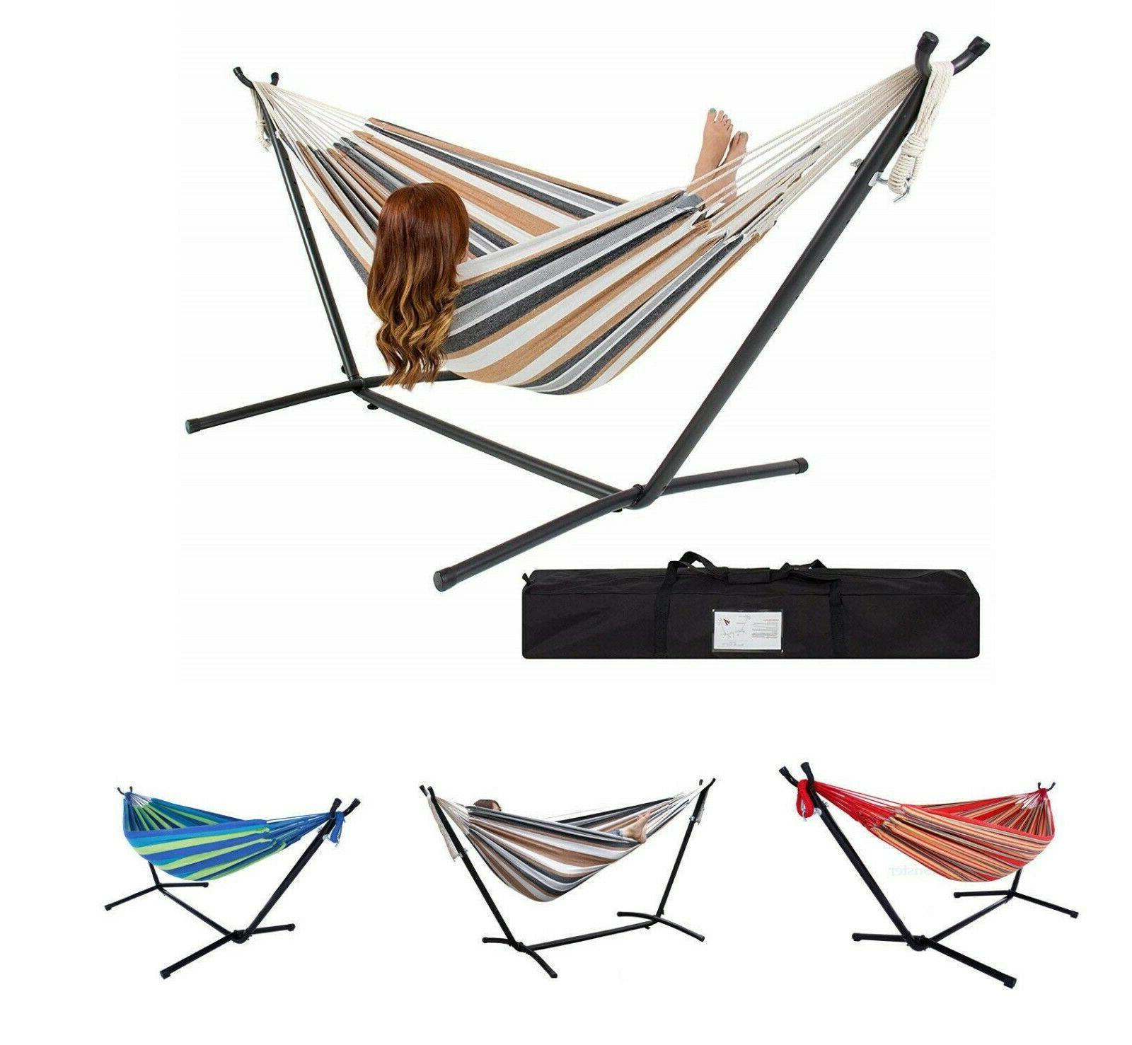 Hammock with Stand 2 Person Double Standing & Spreader Bar B