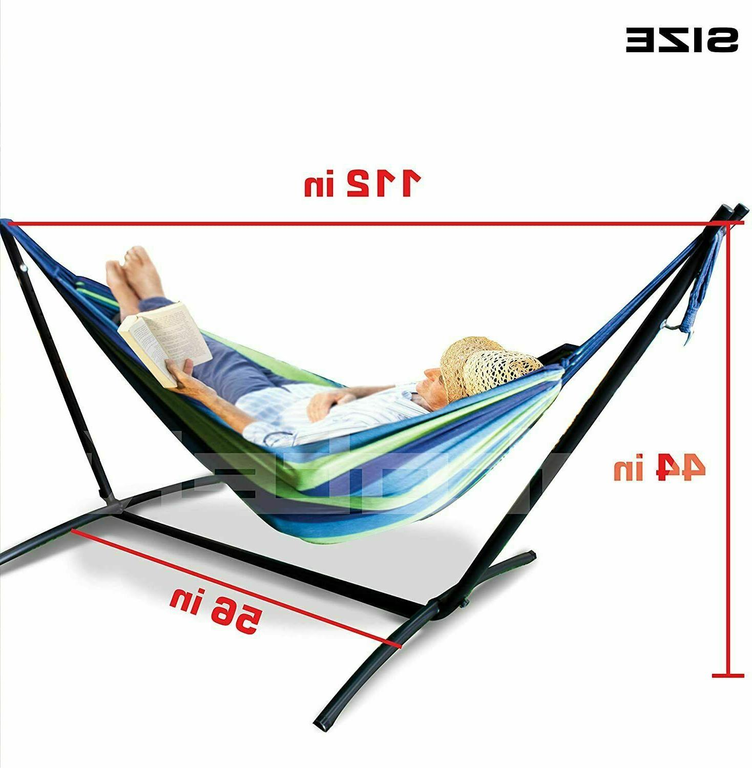 Hammock with Stand Portable Double with Carry Case for Outdoor