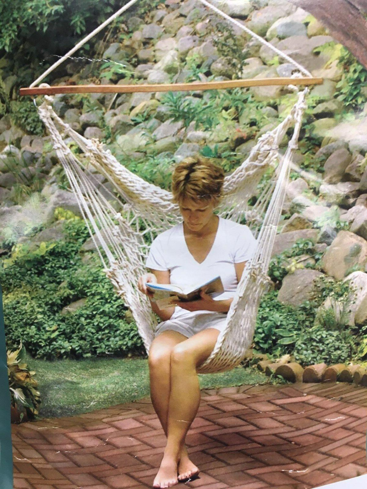 net company hanging cotton rope hammock chair