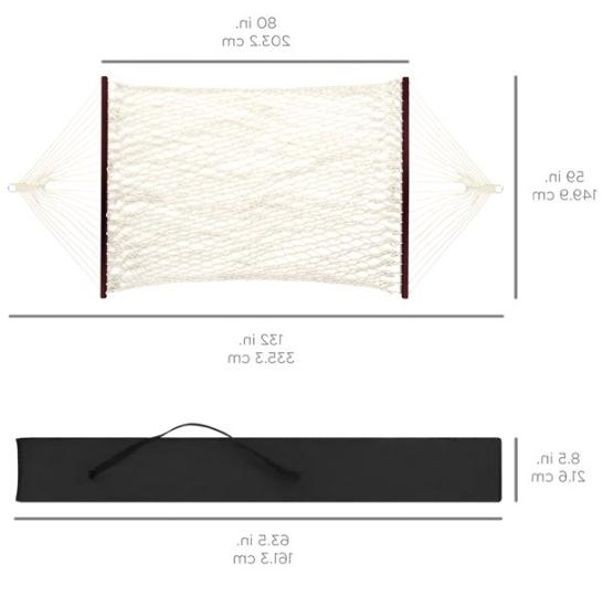 NEW Best Choice Products Cotton Double Hammock w/ Accessories