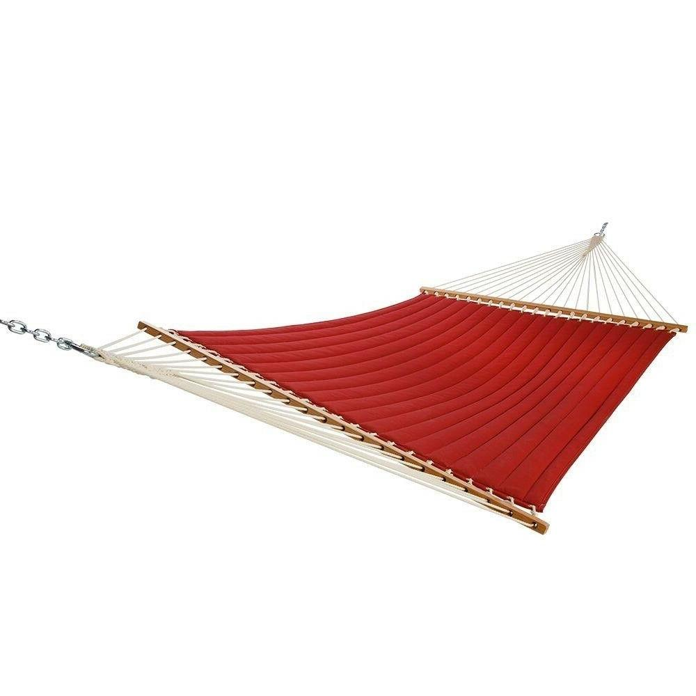 Olefin Quilted Hammock Red 13 ft. Swing Outdoor Padded Rope