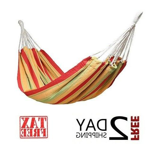 Outdoor Camping Hammock Portable Single Cotton Hanging Bed S