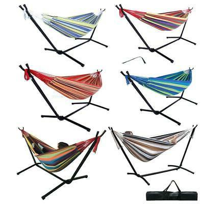 double hammock bed with steel stand camping
