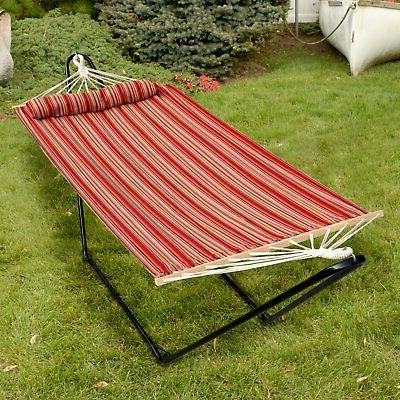 Bliss Hammocks Single with Bar and Pillow