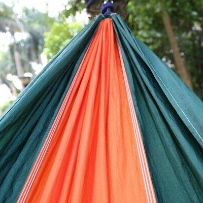 Portable Outdoor Camping Hammock Canvas Swing Beach w/ Carry j0