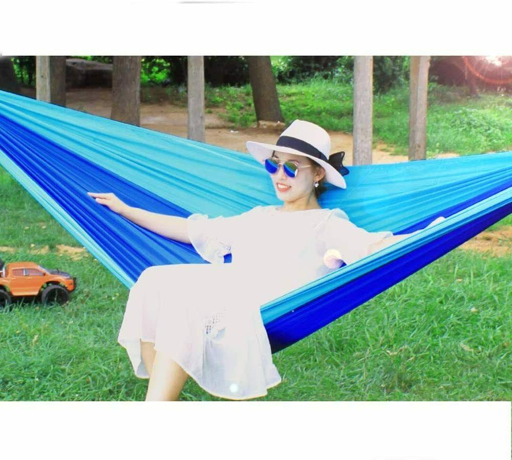 2 Double Camping Hammock Hanging Bed Chair Patio Travel Garden