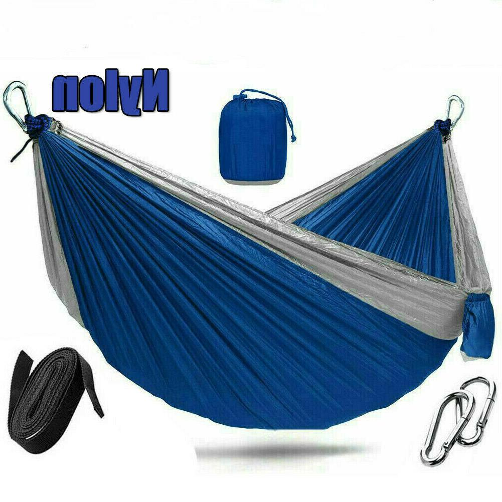 2 Double Camping Hammock Swing Bed Chair for Travel Garden