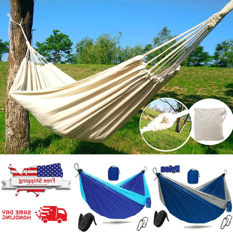 2 person double camping hammock swing hanging